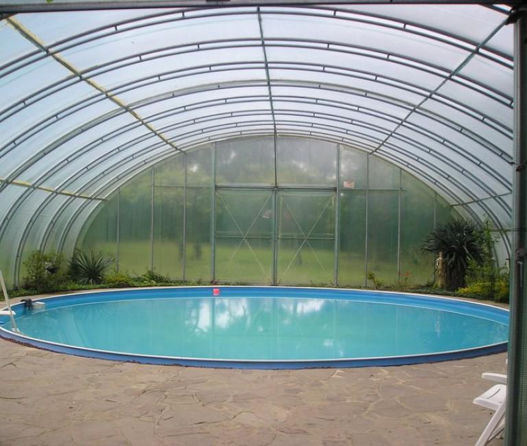RK 7,00 folietunnel zwembadkapping