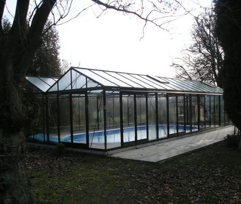 Glazen zwembad overdekking serralux